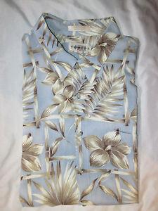 Campia-Moda-Men-039-s-Hawaiian-Shirt-Blue-XXL-Rayon-2XL
