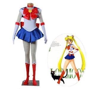 Details about Halloween Sailor Moon Tsukino Usagi Cosplay Costume Custom  Made
