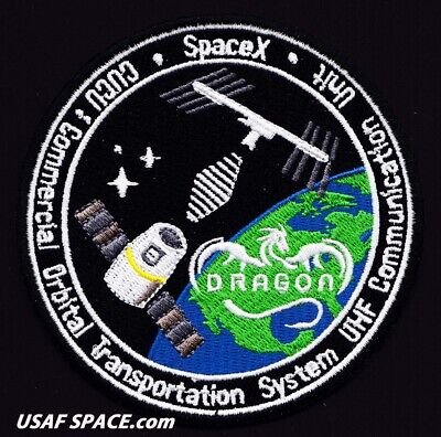 GRASSHOPPER AN EXCELLENT QUALITY REPRO PATCH SPACEX FALCON-9 SATELLITE LAUNCH