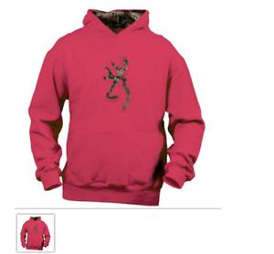 f66e408a48d Image is loading Youth-Buckmark-Camo-Sweatshirt-Fuschia-Pink-Hoodie-Girls-