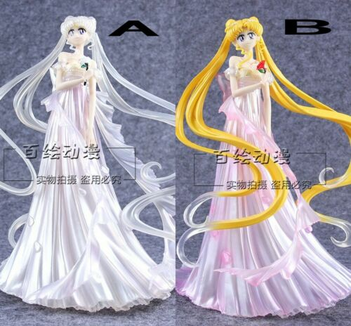 Sailor Moon Tsukino Usagi Wedding Dress 25cm Figure Model Ornaments Collection