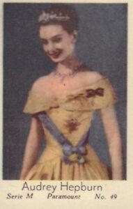 GERMAN-MOVIE-STARS-DUTCH-CIGARETTE-CARDS-01-TM-65-a-o-INGRID-LUTZ-AUDREY-HEPBURN