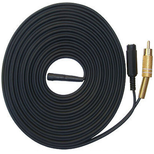 WATERPROOF CCTV DVR MICROPHONE CABLE FOR OUTDOOR CAMERA SOUND AUDIO RECORDING