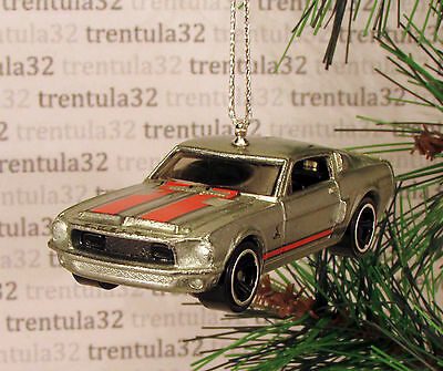 1968 FORD MUSTANG SHELBY GT500 /'68 CHRISTMAS TREE ORNAMENT Silver//Red XMAS