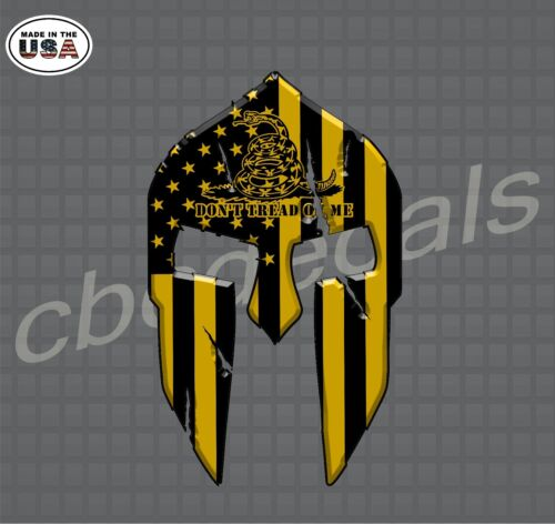 Don/'t Tread On Me Decal StickersSpartan Helmet DecalsCar and Truck Decals