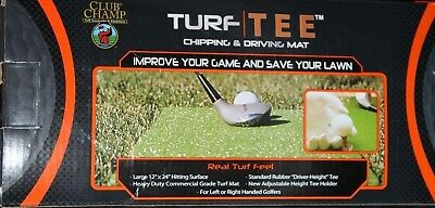 """Objective Club Champ Turf Tee Chipping & Driving Large Mat 12"""" X 24"""" Model 9529 Sporting Goods"""
