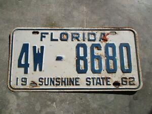 Florida-1962-Matricula-4W-8680