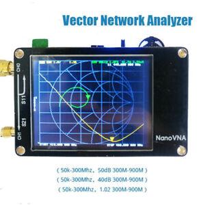 Handheld-2-8-034-LCD-NanoVNA-Vector-Network-Analyzer-50KHz-900MHz-HF-VHF-UHF-Antenna