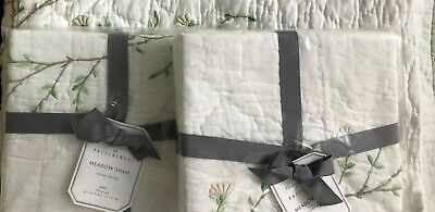 New Pottery Barn MONIQUE LHUILLIER MEADOW King Pillow Sham FREE SHIPPING