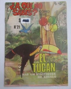80s EL TUCAN comic TOUCAN art BIRD science CHILDREN education NATURE bill BEAK