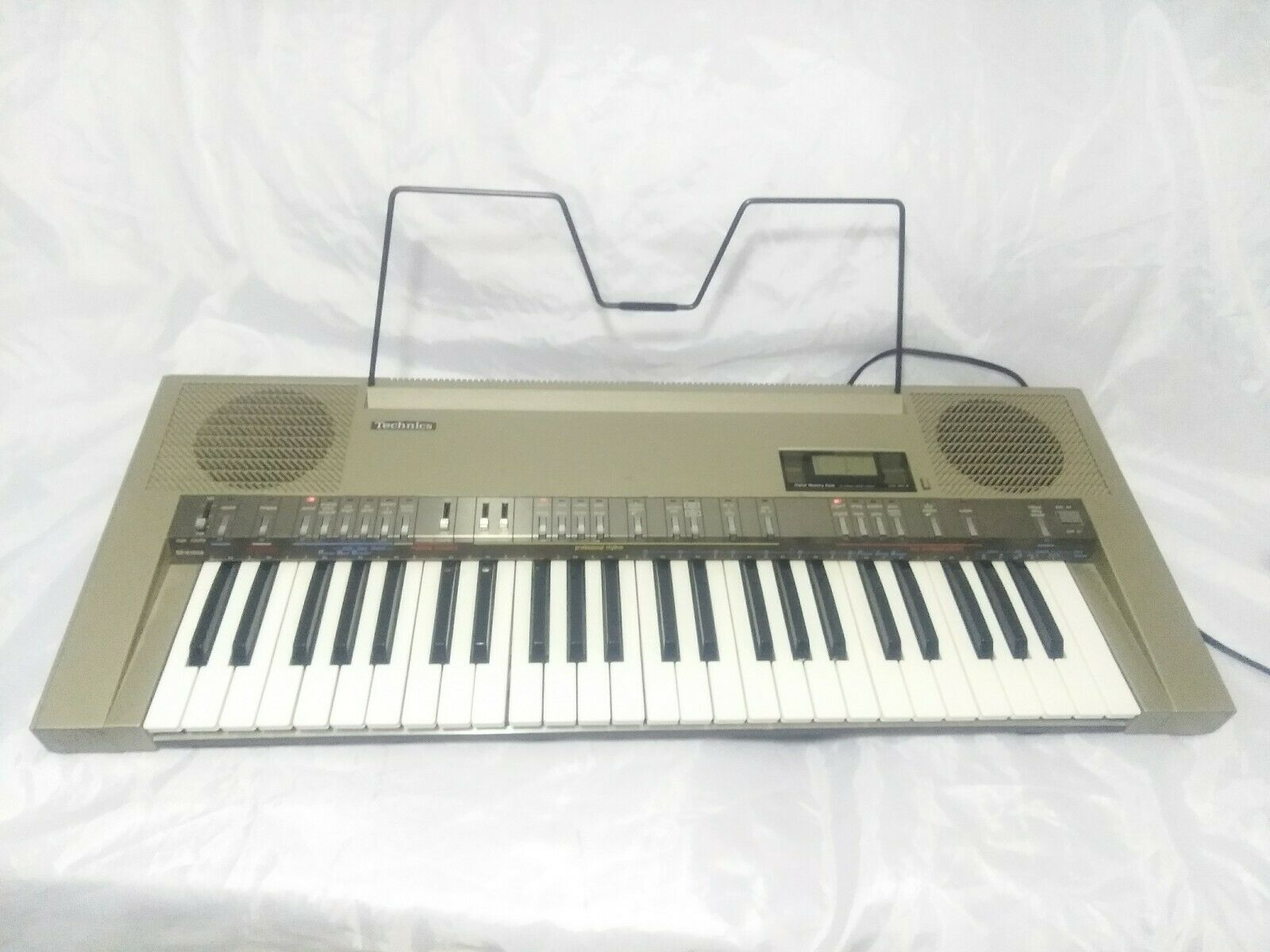80's VINTAGE TECHNICS SX-K100A ELECTRONIC KEYBOARD TESTED SYNTHEstorlekR  RARE WORK