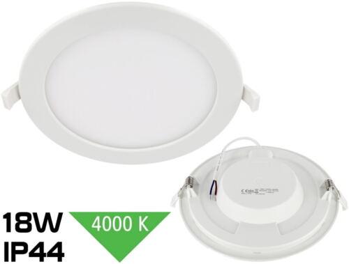 Slim DEL 18 W Bain Encastré ip44 230 v 1450 LM 4000k feuchtraum installation projecteur