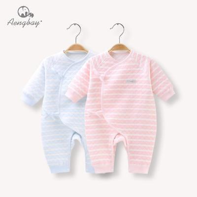 US Yellow Paper Plane Baby Newborn Infant Cotton Organic Romper Jumpsuit Lace Up