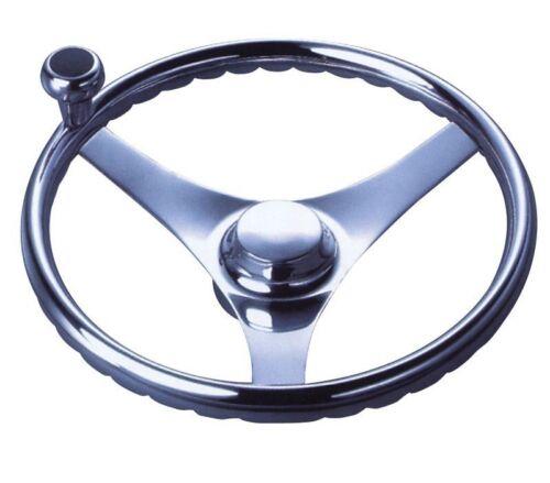340mm 13.4inch x 90mm y... Steering Wheel Three Spoke Stainless Steel Dia.