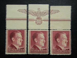 Germany Nazi 1942 Stamps MNH / MH / MNG Adolf Hitler 53rd birthday Swastika Eagl