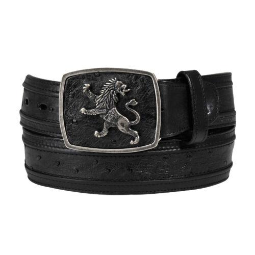 Cuadra Belt Genuine Smooth Ostrich Belt made by Cuadra Boots