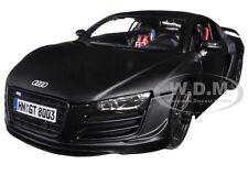 AUDI R8 GT MATT BLACK 1/18 DIECAST MODEL CAR BY MAISTO 36190