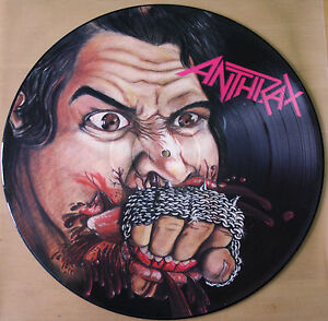 EX-EX-ANTHRAX-FISTFUL-OF-METAL-VINYL-PICTURE-DISC-LP-1984-1st-Pressing-MFN-14-P