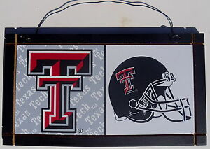 New-Texas-Tech-Red-Raiders-University-College-Licensed-Wooden-Sign-Sport-Fan-B