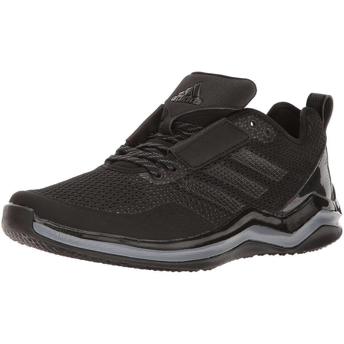 Adidas Men's Speed Trainer 3.0 Black Ironmt Baseball shoes Training Sneakers NEW