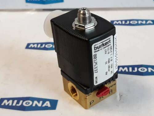 Bürkert 00125337 W21MG 6014 C 2.0 FKM MS drukbereik G1//8 PN0 10BAR 24V DC 8W