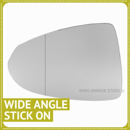 Left hand passenger side for Vauxhall Ampera 12-16 Wide Angle wing mirror glass