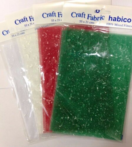 Habico craft fabric mesh VARIOUS COLOURS DESIGNS scrapbooking card making