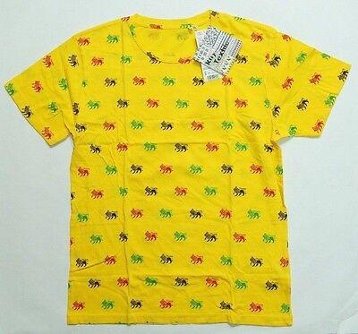 UNIQLO Rhythmic Textile GRAPHIC SHORT SLEEVE T SHIRT Yellow (077666)