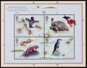 GR-BRITAIN-2009-Scott-2626-MS2904-Galapagos-Island-Mini-Sheet-S-S-Mint-NH