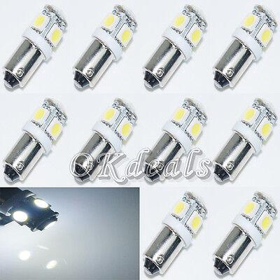 10PCS T11 BA9S White 5050 SMD 5 LED Car Light Bulb  T4W 3886X H6W 363 12V