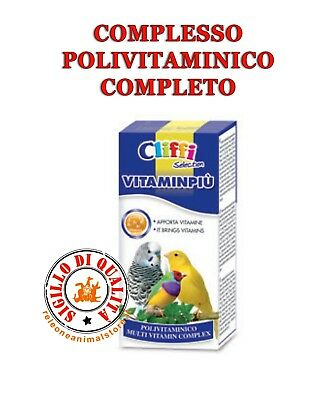 Pet Supplies Other Bird Supplies Frugal Cliffi VitaminpiÙ 25 Gr Complesso Polivitaminico Completo Per Uccelli Bright Luster