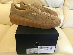 Image is loading PUMA-RIHANNA-OATMEAL-BEIGE-SUEDE-CREEPERS-FENTY-SIZES- d96402aaa