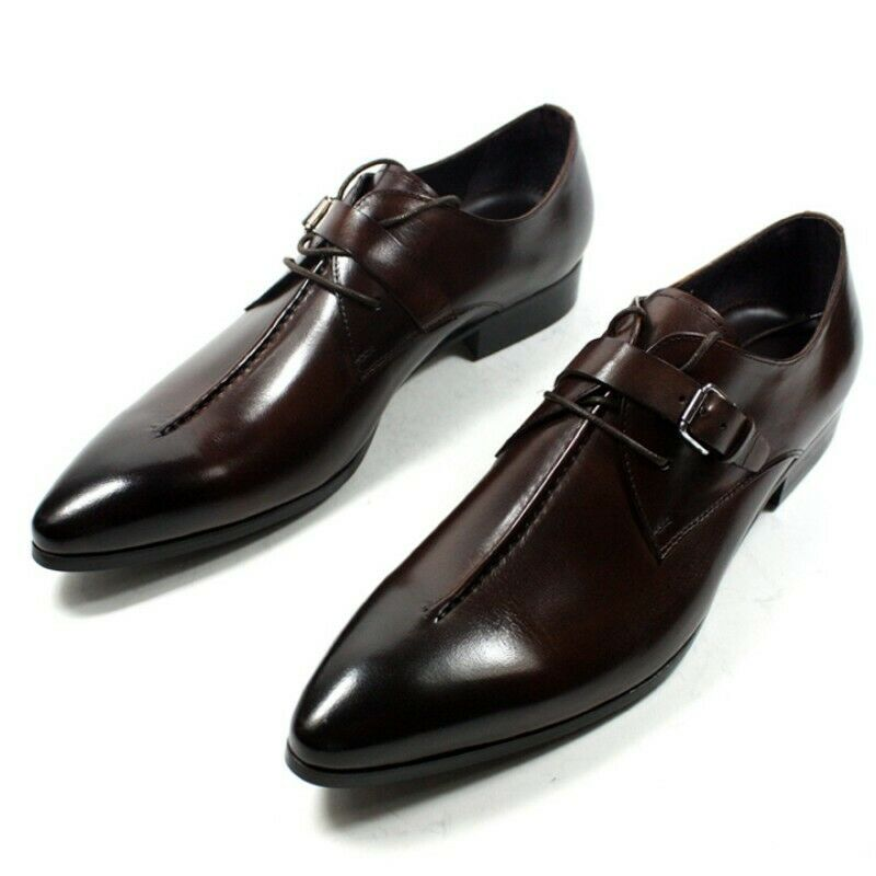Vogue Mens Pointy Toe Buckle shoes Leisure British Business Hairstylist Leather