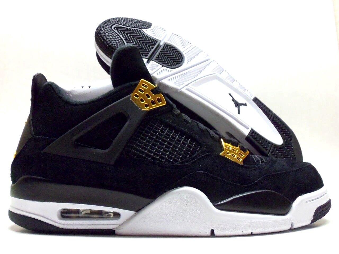 Nike / air jordan 4 vintage nero / Nike metallico gold-white dimensioni uomini [308497-032] 8ba359