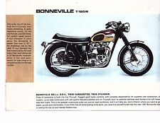 1967 Triumph 650 Bonneville motorcycle sales brochure/flyer(Reprint) $6.50