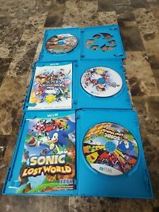 Lot-of-3-Wii-U-Games-sonic-lost-world-super-smash-bros-donkey-kong-tropical-fr