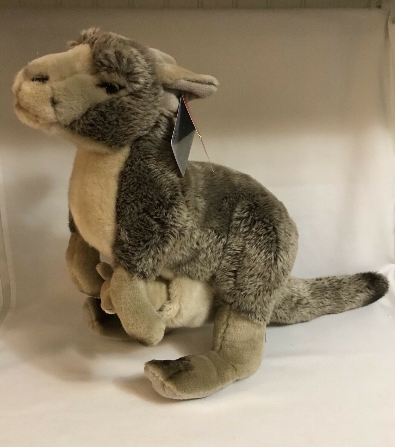 FAO black Extra Large Kangaroo and Joey Stuffed Animal  Toys R Us Exclusive
