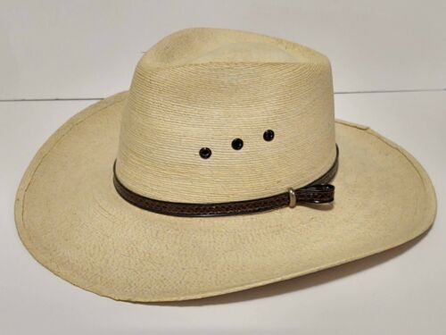 FidePal Sahuayo Vintage Mexican Woven Straw Cowboy