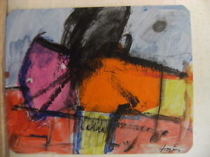 Details about TAPIES OIL ON PAPER