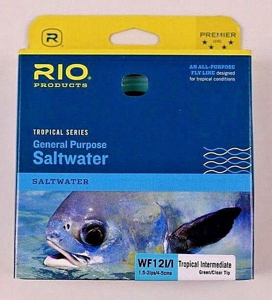 Rio General Purpose Saltwater WF12II Fly Line verde Clear Tip Free Ship 620345