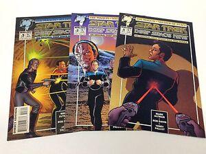 STAR-TREK-DEEP-SPACE-NINE-1-3-MALIBU-1st-SERIES-0216100-COMPLETE-SET-LOT-OF-3
