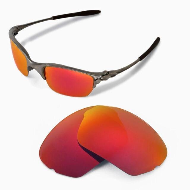 1f2d67c506 Walleva Polarized Fire Red Lenses for Oakley Half X for sale online ...