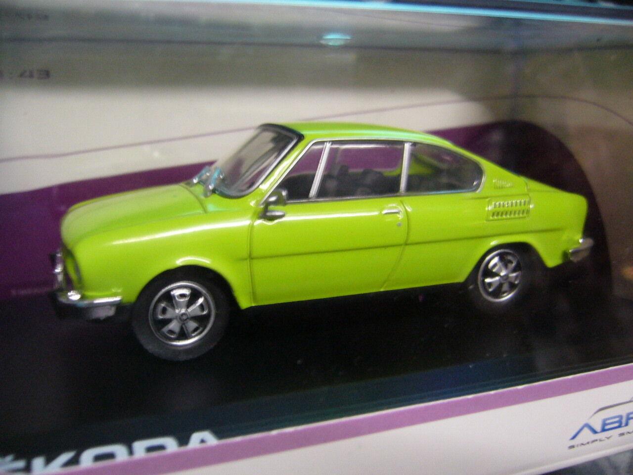 Skoda coupé 110r 110 r 1970 - 1976 spring Hell vert vert NEUF NEW Abrex 1 43