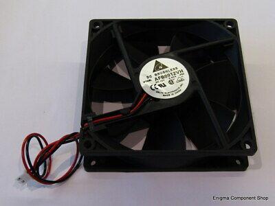 Industrioso Delta Afb0912vh Ad Alta Velocità Ventola 12v, 92mm. Venditore Affidabile Regno Unito-spedizione Veloce.-