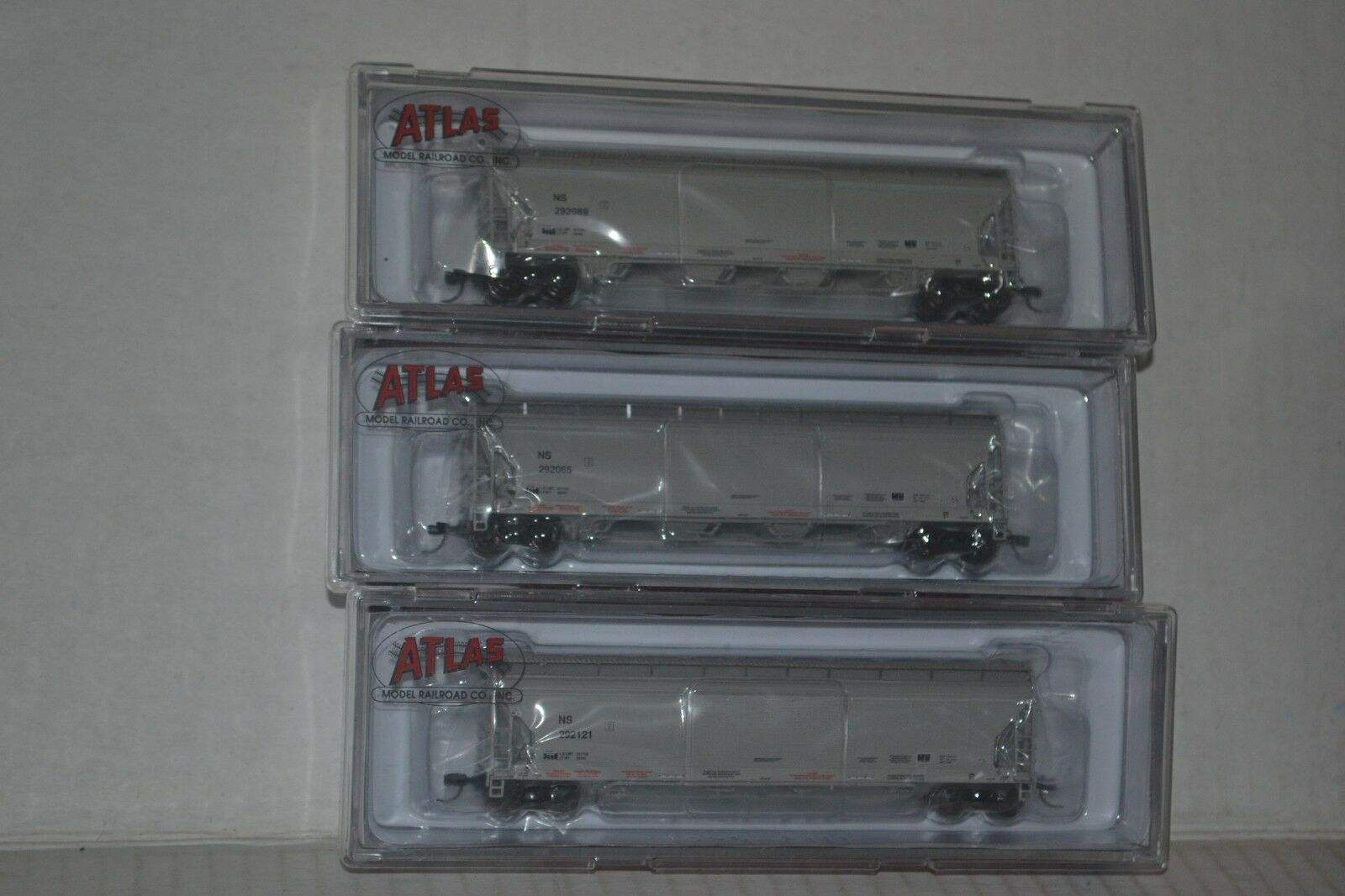 3 Atlas Norfolk Southern NS ACF Pressureaide Hopper N scale 50002710, 2711, 2712