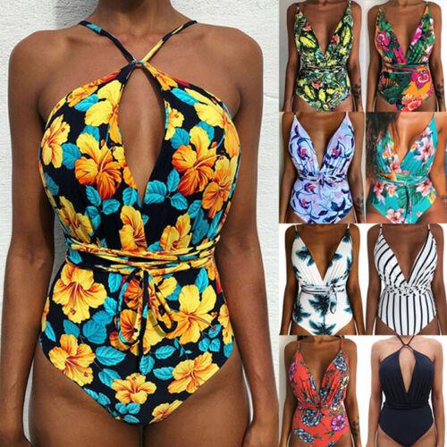 Sommer Frauen Monokini Badeanzug  Rückenfreier Body Brazilian Swimming Beach S//H