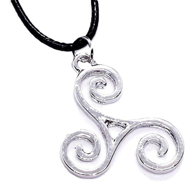 Triskele BDSM Symbol Pendant Kink Secret Symbol Cord Lace Necklace