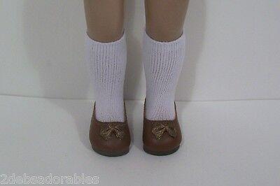 """BLUE Princess Flats Doll Shoes Fit 10/"""" Ann Estelle Sophie Patsy Debs LT Light"""