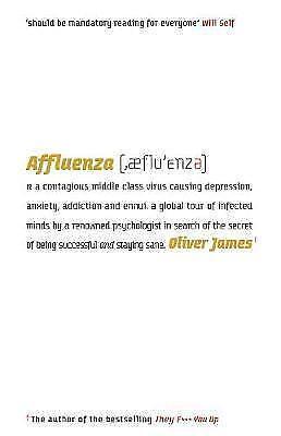 "1 of 1 - ""VERY GOOD"" Affluenza, James, Oliver, Book"