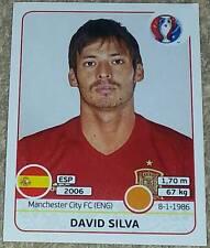368 David Silva España España Panini Euro 2016 Etiqueta engomada de Francia